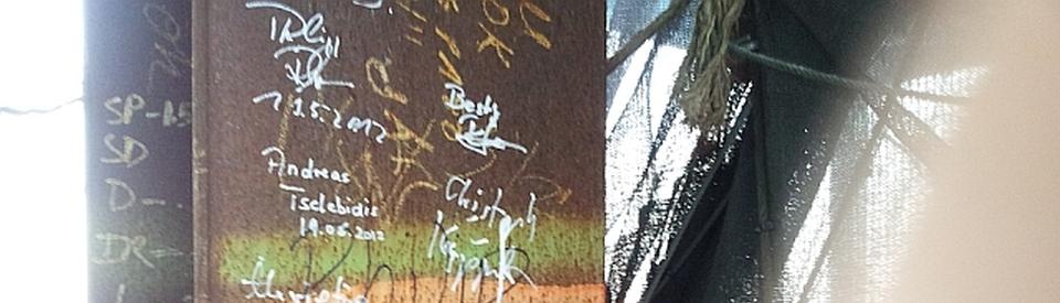 Mein Name auf einem Stahlträger des neuen World Trade Center (am 20.6.2012 noch im Bau)
