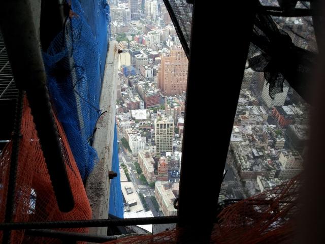 Blick aus dem noch nicht fertigen WTC